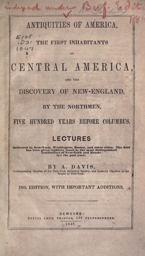 Download Antiquities of America