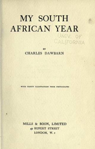 My South African year