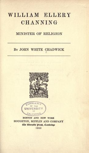 Download William Ellery Channing, minister of religion