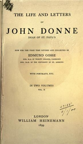 Download The life and letters of John Donne, dean of St. Paul's.