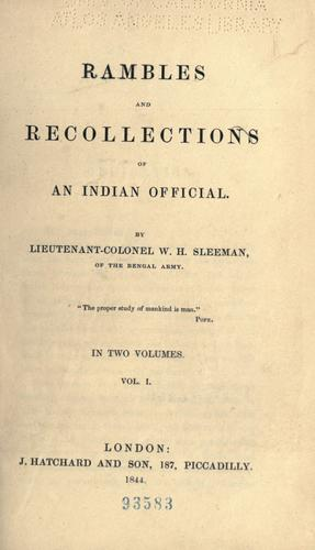 Rambles and recollections of an Indian official.