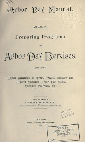Arbor day manual.