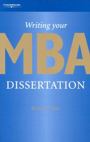 Download Writing Your MBA Dissertation
