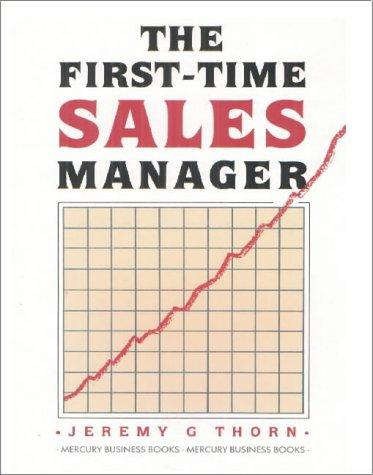 Download The First-Time Sales Manager