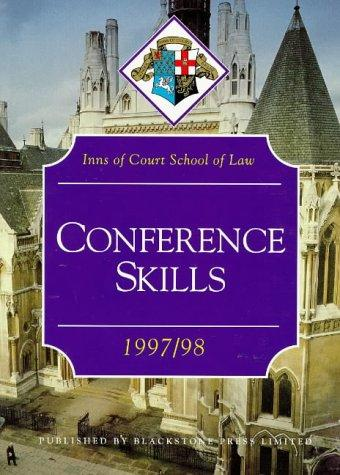 Download Conference Skills (Inns of Court Bar Manuals)