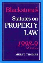 Download Blackstone's Statutes on Property Law (Blackstone's Statute Books)