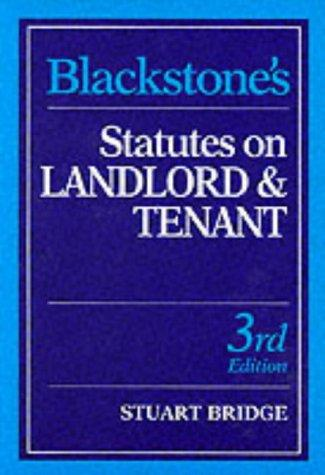 Download Blackstone's Statutes on Landlord and Tenant (Blackstone's Statute Books)