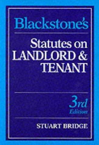 Blackstone's Statutes on Landlord and Tenant (Blackstone's Statute Books)