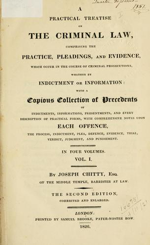 A practical treatise on the criminal law