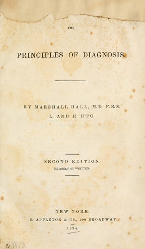 The principles of diagnosis