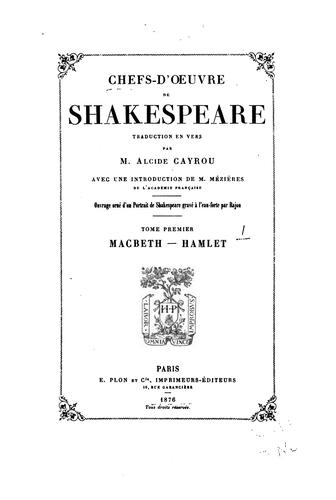 Download Chefs-d'oeuvre de Shakespeare