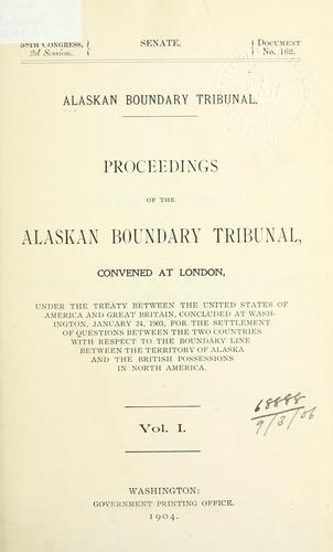 Download Proceedings of the Alaskan Boundary Tribunal