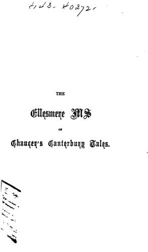 The Ellesmere Ms. of Chaucer's Canterbury Tales