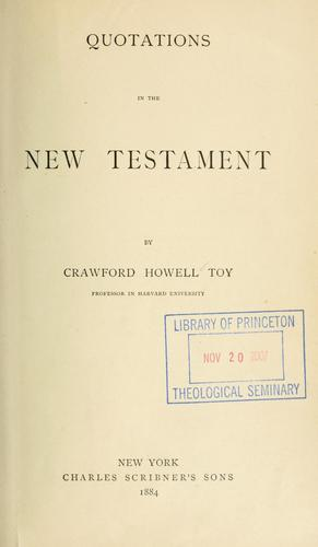 Download Quotations in the New Testament.