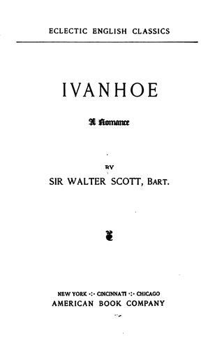 Download Ivanhoe: A Romance