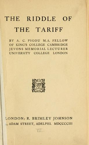 Download The riddle of the tariff