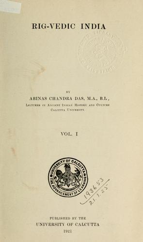 Rig-Vedic India.