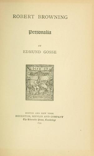 Download Robert Browning; personalia