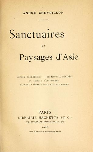 Sanctuaires et paysages d'Asie