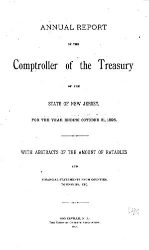 Annual Report of the Comptroller of the Treasury of the State of New Jersey …