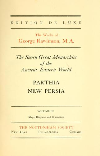 Download The seven great monarchies of the ancient eastern world.