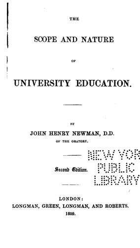 Download The Scope & Nature of University Education