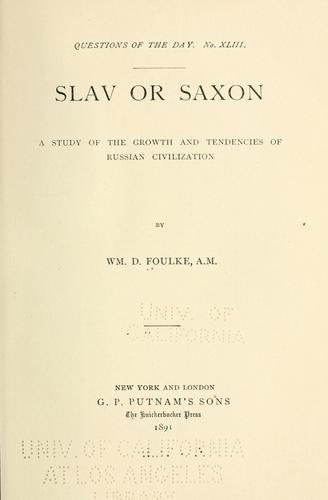 Slav or Saxon