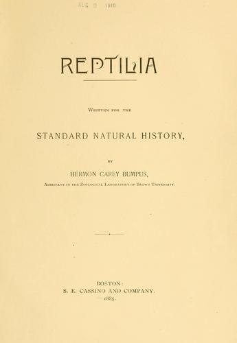 Download The standard natural history.