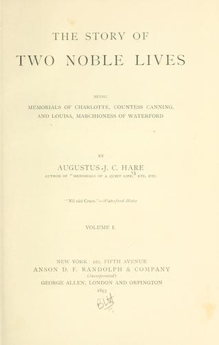 Download The story of two noble lives