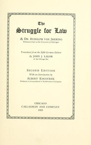 Download The struggle for law