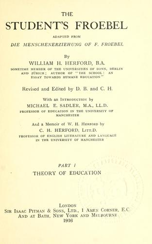 The student's Froebel