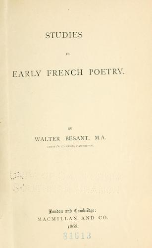 Download Studies in early French poetry.