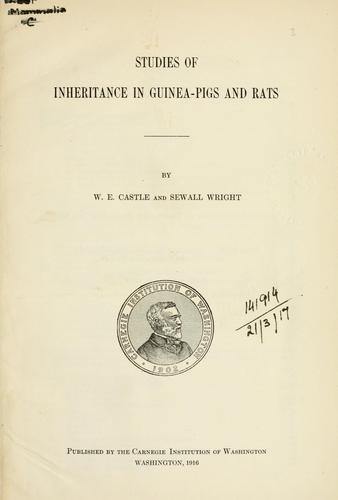 Download Studies of inheritance in guinea-pigs and rats