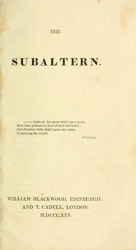 The subaltern.