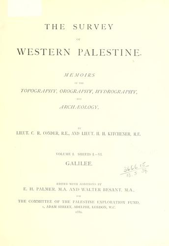 Download The survey of western Palestine