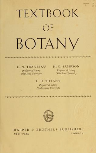 Textbook of botany