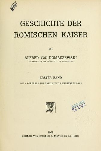 Download Geschichte der römischen Kaiser.