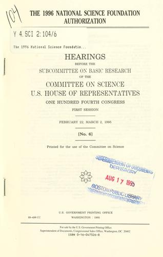 Download The 1996 National Science Foundation authorization