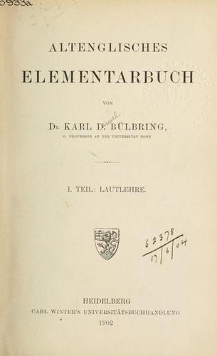 Download Altenglisches Elementarbuch.