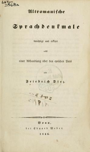 Download Altromanische Sprachdenkmale berichtigt und erklärt