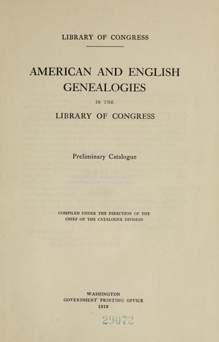 Download American and English genealogies in the Library of Congress