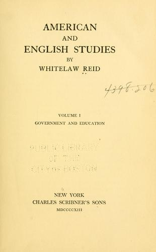 American and English studies