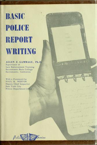 Basic police report writing.