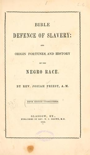 Download Bible defence of slavery