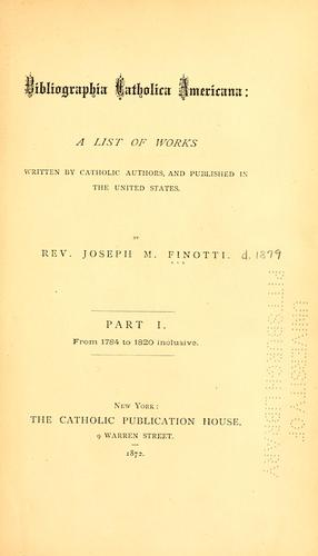 Bibliographia Catholica Americana