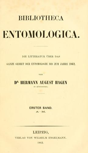 Download Bibliotheca entomologica.