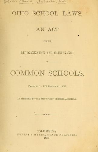 Ohio school laws.
