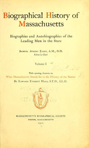 Download Biographical history of Massachusetts