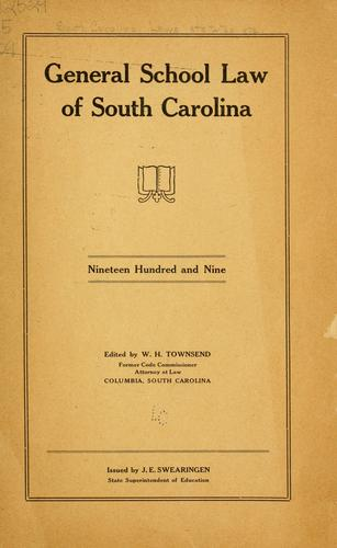 General school law of South Carolina.