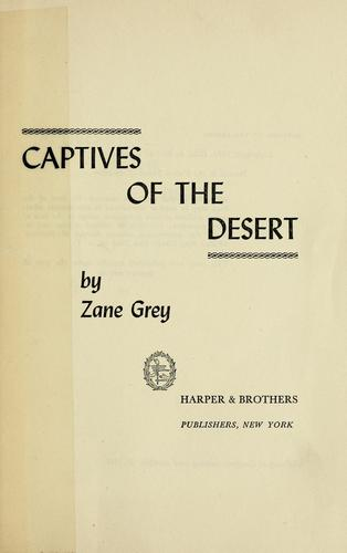 Download Captives of the desert